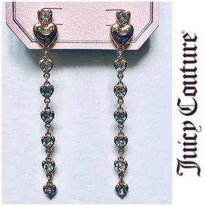 NWT Juicy Couture Faux Diamond Dangling Earrings